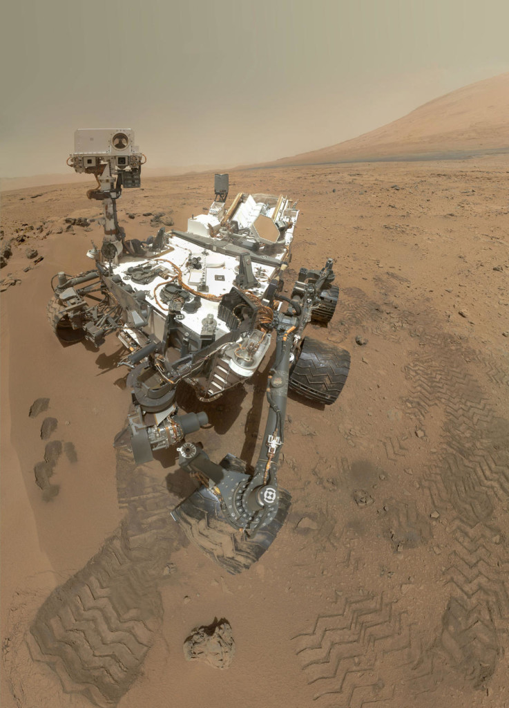 A self-portrait of the Mars rover Curiosity. NASA/JPL-Caltech/Malin Space Science Systems