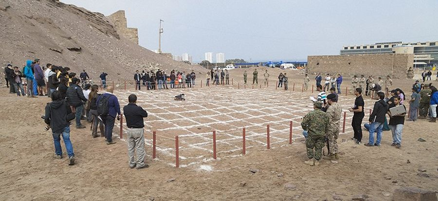 Arena of the final round of the 4th edition of Minesweepers in the historic Ruins of Huanchaca in Antofagasta, Chile