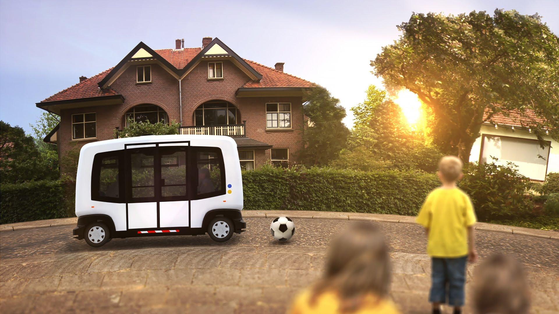 Wepods: The first autonomous vehicle on Dutch public roads. Source: True Form/YouTube