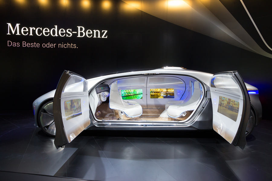 Mercedes Benz autonomous concept car at the IAA 2015. Photo: VanderWolf Images/Bigstockphoto