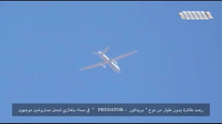 A video surfaced last week that appears to show an MQ-9 Reaper flying over Benghazi, Libya. Via: YouTube