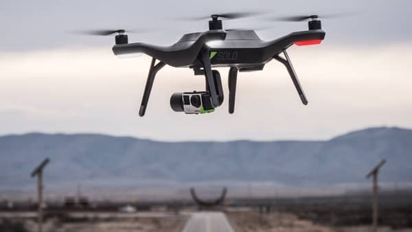 The Department of the Interior awarded 3DR a contract for Solo drones (pictured). Credit: 3DR