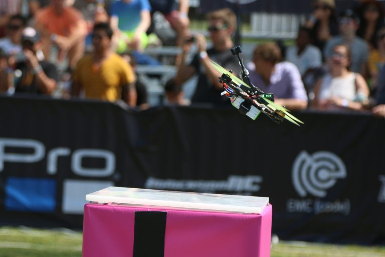 A drone lifts off at the Drone Nationals. Credit: Dan Gettinger