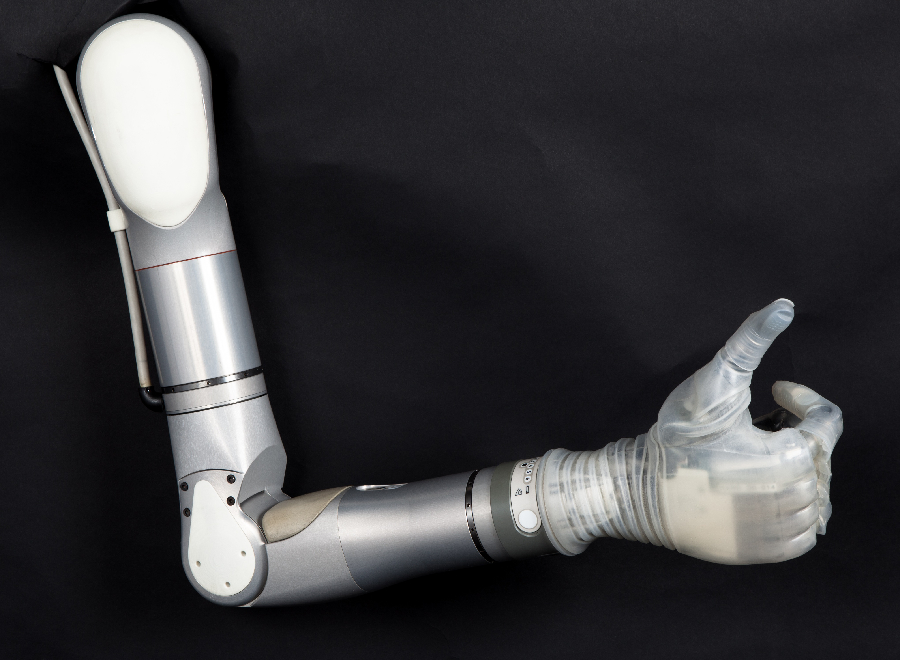 The LUKE Arm in the Shoulder Configuration. (Photo: Mobius Bionics/Business Wire)