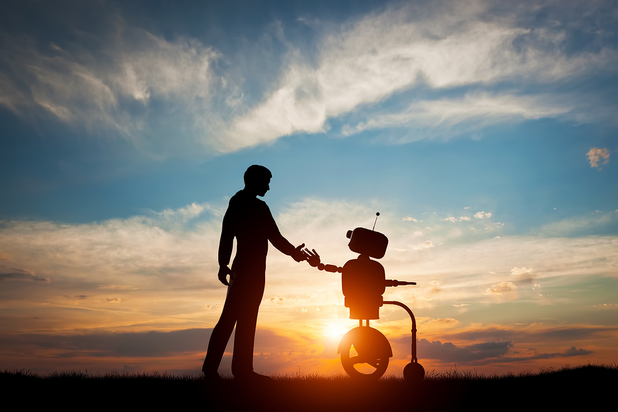 Man-robot-interaction-handshake-robotics
