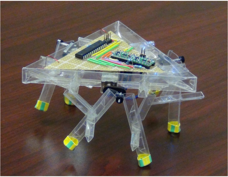 A 3-DoF holonomic hexapod robot. Source: Ankur Mehta and Cagdas Onal
