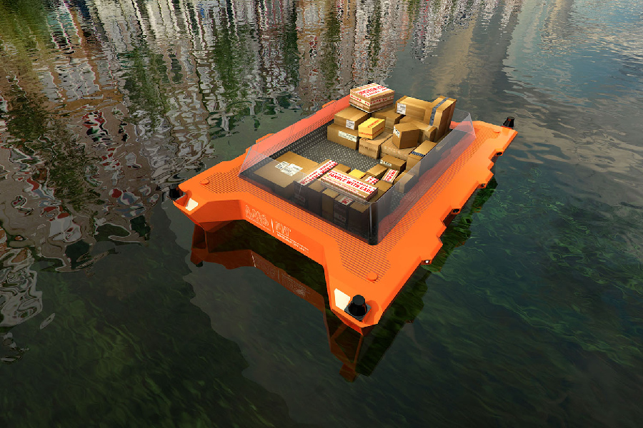 The new ROBOAT project will investigate how urban waterways can be used to improve the city's function and quality of life. Photo: SENSEable City Lab