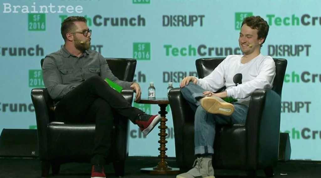 "George ""Geohot"" Hotz Presents the Comma One at Disrupt SF. Source: TechCrunch/YouTube"