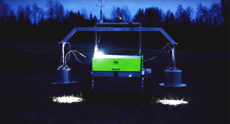 The Field Flux prototype can measure the amount of the greenhouse gas nitrous oxide in agricultural fields. Image: NORA