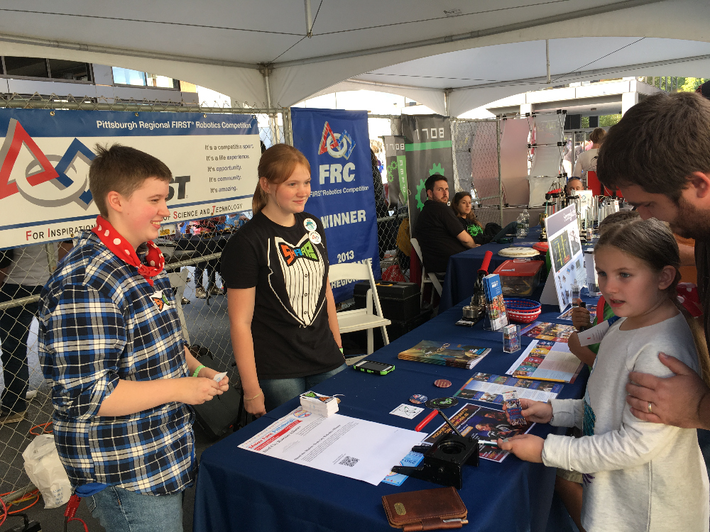 Photo: Outreach at the 2016 Pittsburgh Maker Faire.