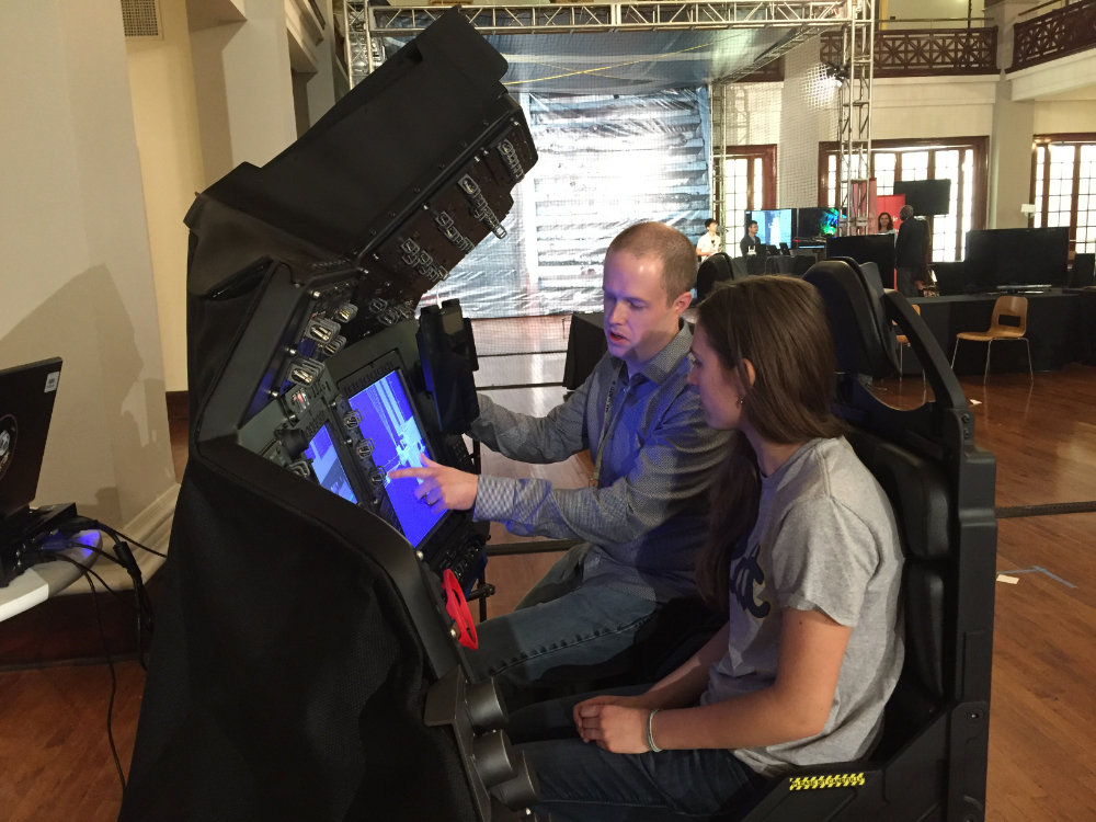 Boeing CST-100 Starliner Simulator demo at the White House Frontiers Conference.