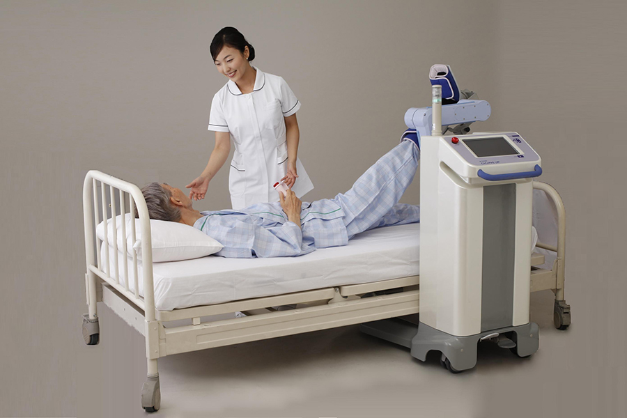 Lower limb rehabilitation robot.Image: Yasakawa.
