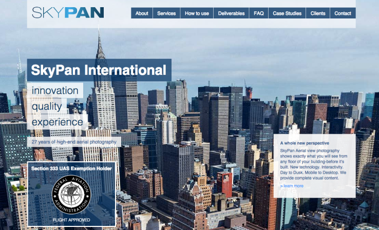 SkyPan settled a suit with the Federal Aviation Administration for illegally flying over New York City. Image via TechCrunch