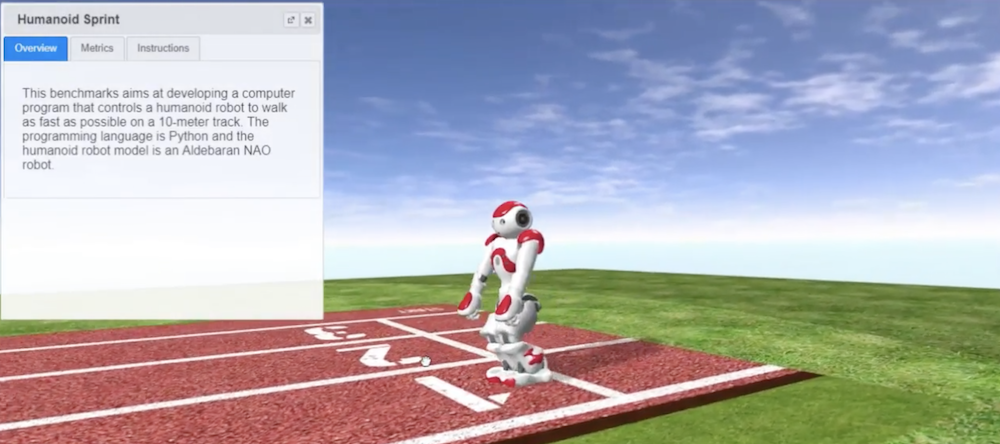 Robotbenchmark lets you program simulated robots from your