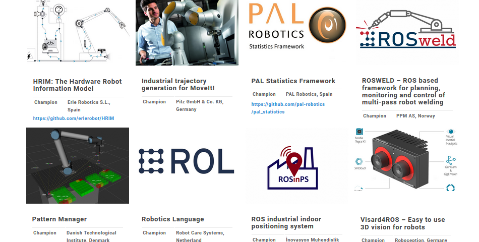 Collage of Focused Techincal Projects (FTPs) supported by ROSIN