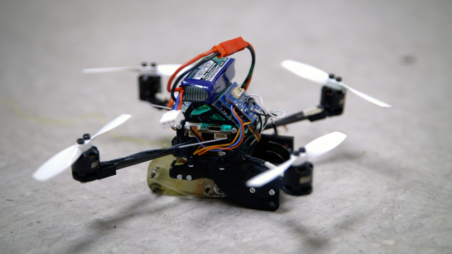 Small flying robots able to pull objects up to 40 times