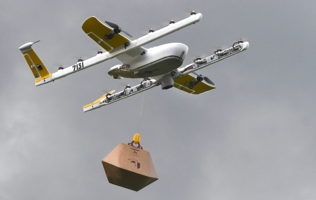 Wing delivery drone