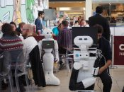 Day one at #ScirocChallenge: social robots and humans meet in a shopping mall