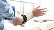Sensor-driven armband used to direct robots