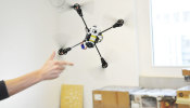 Quadrotor automatically recovers from failure or aggressive launch, without GPS