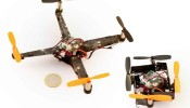 A self-deploying, foldable quadrotor for rapid rescue