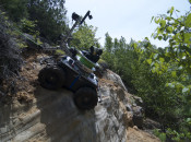 Driving, flying, and climbing in a sand and gravel pit