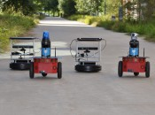 Robot teams create supply chain to deliver energy to explorer robots
